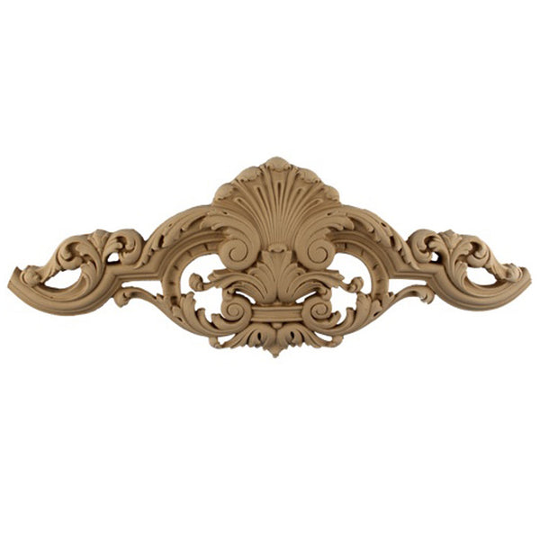 "9""(W) x 4-1/2""(H) - Decorative Wall Cartouche Accent - [Compo Material] - Brockwell Incorporated"