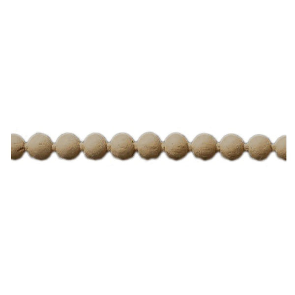 "Brockwell Incorporated's 3/8""(H) x 3/16""(Relief) - Interior Renaissance Linear Bead Molding Style - [Compo Material]"