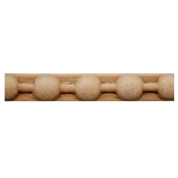 "Brockwell Incorporated's 1/4""(H) x 1/8""(Relief) - Stain-Grade Renaissance Bead Linear Molding Style - [Compo Material]"