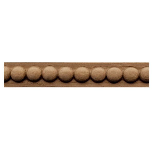 "Brockwell Incorporated's 1/2""(H) x 3/16""(Relief) - Stain-Grade Renaissance Bead Linear Molding Style - [Compo Material]"