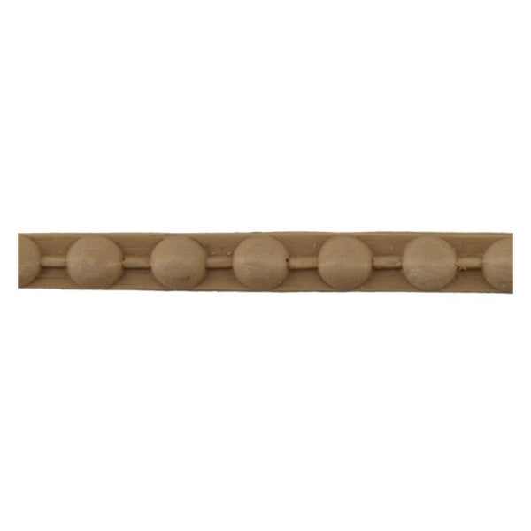 "Brockwell Incorporated's 7/16""(H) x 3/16""(Relief) - Stain-Grade Renaissance Bead Linear Molding Style - [Compo Material]"
