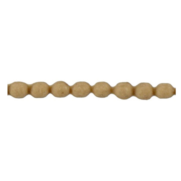 "Brockwell Incorporated's 1/8""(H) x 1/16""(Relief) - Stain-Grade Renaissance Bead Linear Molding Design - [Compo Material]"