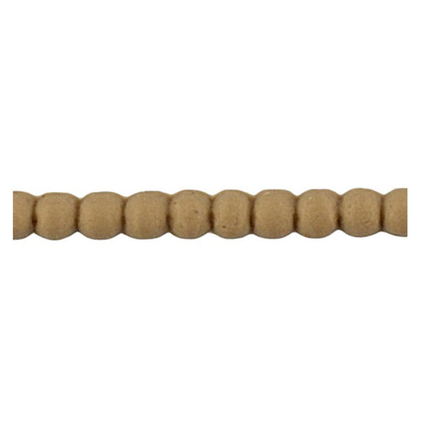 "Brockwell Incorporated's 3/16""(H) x 1/8""(Relief) - Stain-Grade Renaissance Bead Linear Molding Design - [Compo Material]"