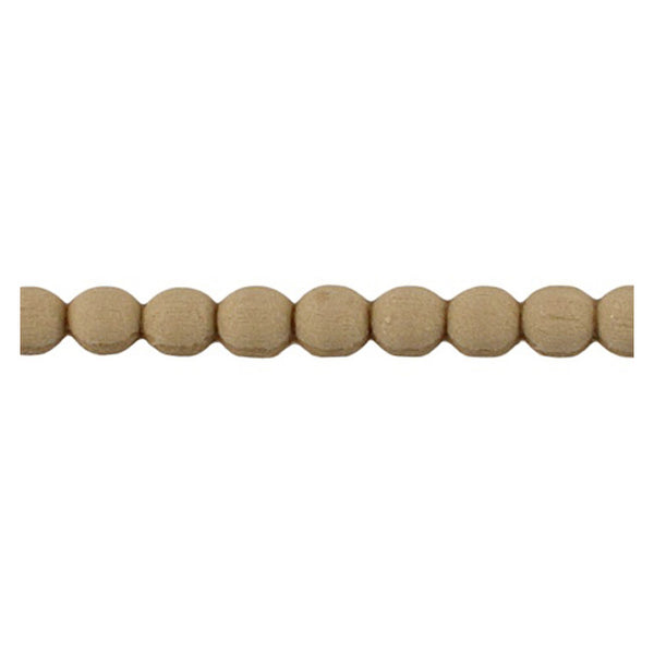 "Brockwell Incorporated's 1/4""(H) x 1/8""(Relief) - Renaissance Stain-Grade Bead Linear Molding Design - [Compo Material]"