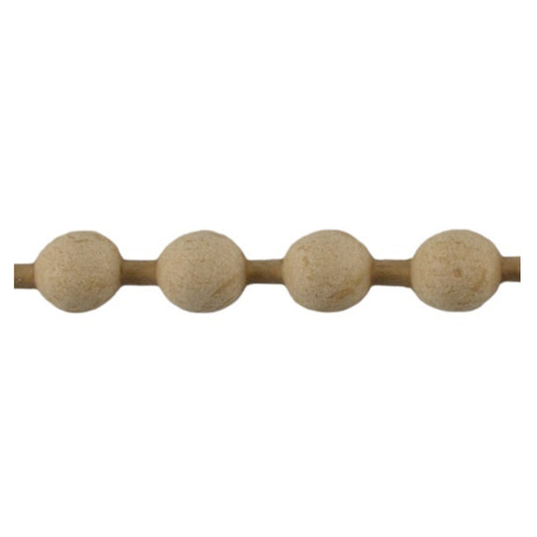 "Brockwell Incorporated's 3/8""(H) x 1/4""(Relief) - Stain-Grade Renaissance Bead Linear Molding Design - [Compo Material]"
