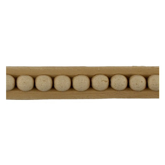 "Brockwell Incorporated's 5/8""(H) x 1/4""(Relief) - Renaissance Interior Bead Linear Molding Design - [Compo Material]"