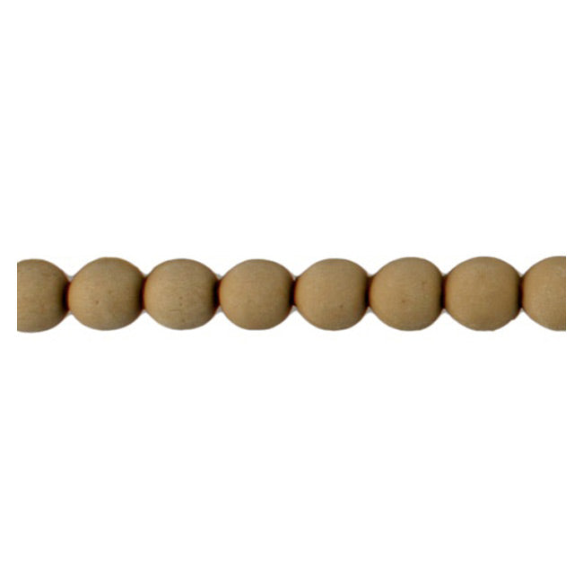 "Brockwell Incorporated's 7/16""(H) x 5/16""(Relief) - Repeat: 1/2"" - Renaissance Bead Linear Molding Design - [Compo Material]"
