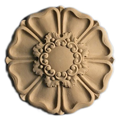 Circle Resin Rosettes for Fluted Casing - Item # RST-F2265-CP-2 - ColumnsDirect.com