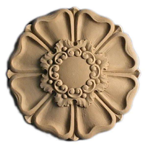 Circle Resin Rosettes for Fluted Casing - Item # RST-F1265-CP-2 - ColumnsDirect.com
