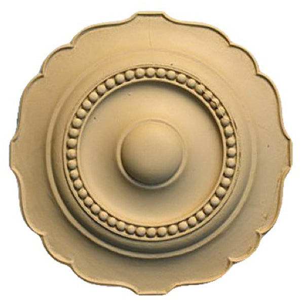 Circle Resin Rosettes for Fluted Casing - Item # RST-F6365-CP-2 - ColumnsDirect.com
