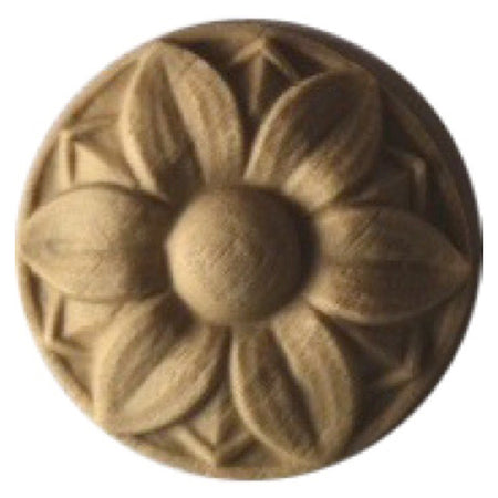 Circle Resin Rosettes for Fluted Casing - Item # RST-F4765-CP-2 - ColumnsDirect.com