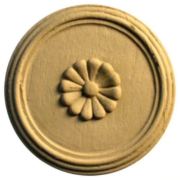 Circle Resin Rosettes for Fluted Casing - Item # RST-F7137-CP-2 - ColumnsDirect.com