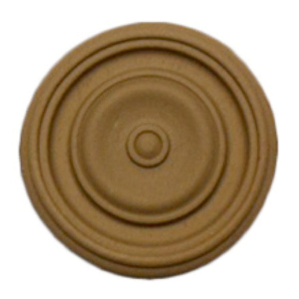 Circle Resin Rosettes for Fluted Casing - Item # RST-F4147-CP-2 - ColumnsDirect.com
