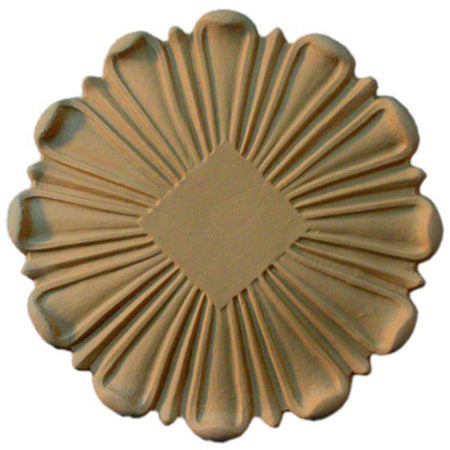 Circle Resin Rosettes for Fluted Casing - Item # RST-91811-CP-2 - ColumnsDirect.com