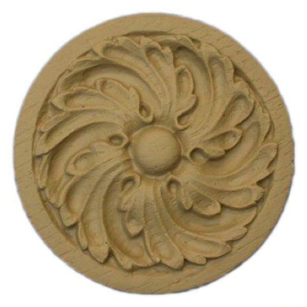 Circle Resin Rosettes for Fluted Casing - Item # RST-9715-CP-2 - ColumnsDirect.com