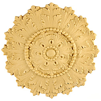 Circle Resin Rosettes for Fluted Casing - Item # RST-3625-CP-2 - ColumnsDirect.com
