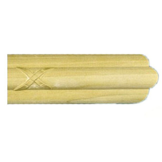 "Buy 1-1/2""(H) x 3/4""(Proj.) - Ornate Crossband Onlay Panel Molding Design (Poplar) - [Wood Material] - Brockwell Incorporated"