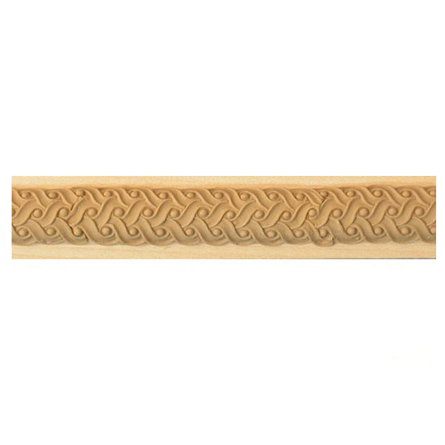 "Buy 1-1/4""(H) x 5/8""(Proj.) - Stain-Grade Rope Onlay Panel Molding Design (Poplar) - [Wood Material] - Brockwell Incorporated"