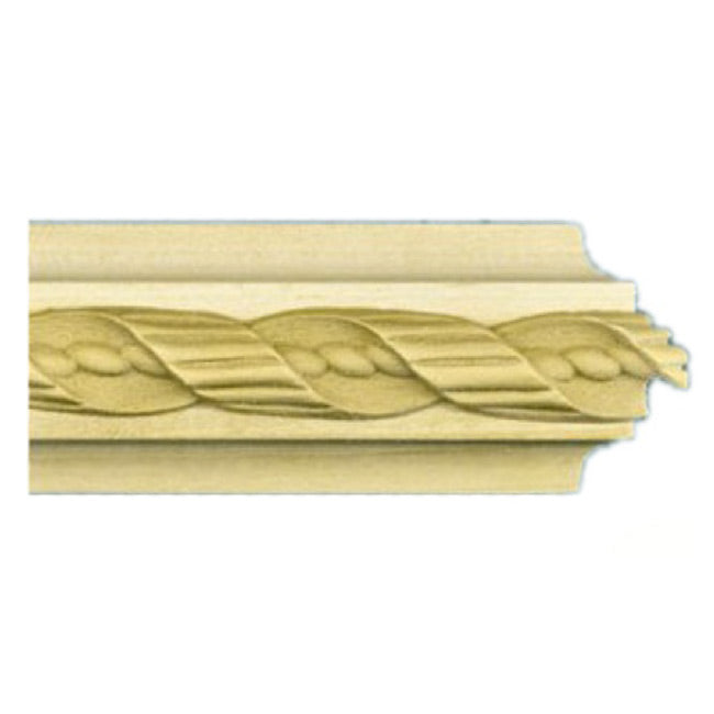 "Buy 1-1/2""(H) x 5/8""(Proj.) - Twisted Rope Onlay Panel Molding Design (Poplar) - [Wood Material] - Brockwell Incorporated"