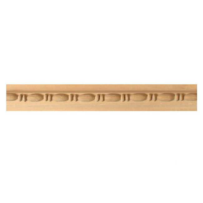 "Buy 1-1/8""(H) x 11/16""(Proj.) - Bead & Reel Decorative Onlay Panel Molding Design (Poplar) - [Wood Material] - Brockwell Incorporated"
