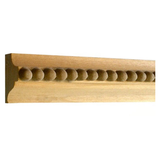 "Buy 1-1/8""(H) x 13/16""(Proj.) - Bead Onlay Panel Molding Design (Poplar) - [Wood Material] - Brockwell Incorporated"