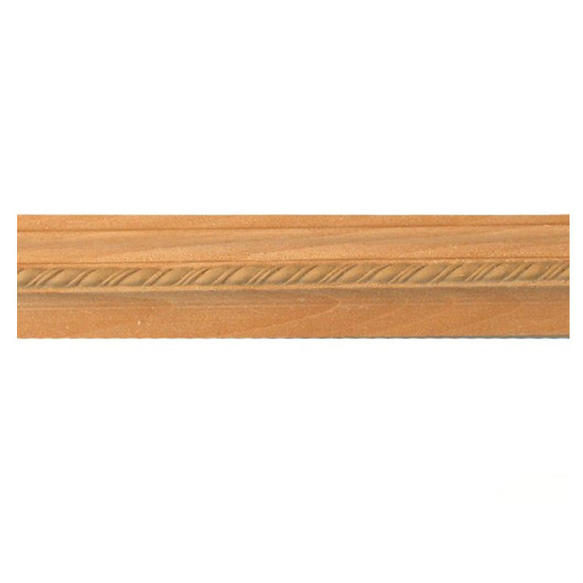 "Buy 1-5/16""(H) x 3/4""(Proj.) - Decorative Rope Onlay Panel Molding Design (Poplar) - [Wood Material] - Brockwell Incorporated"