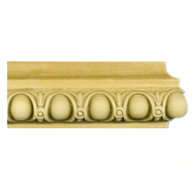 "Buy 1-11/16""(H) x 11/16""(Proj.) - Egg & Dart Onlay Panel Molding Design (Poplar) - [Wood Material] - Brockwell Incorporated"