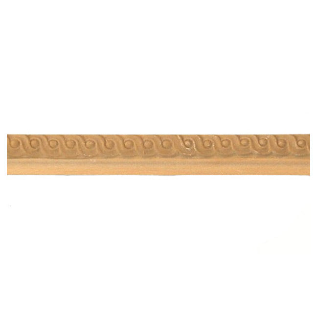 "Buy 1/2""(H) x 7/16""(Proj.) - Small Running Coin Onlay Panel Molding Design (Poplar) - [Wood Material] - Brockwell Incorporated"