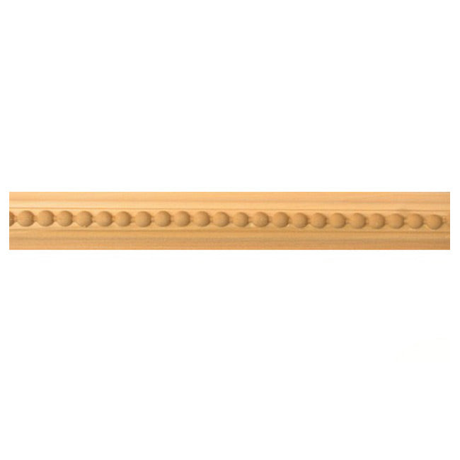 "Buy 1-5/8""(H) x 11/16""(Proj.) - Bead Onlay Panel Molding Design (Poplar) - [Wood Material] - Brockwell Incorporated"