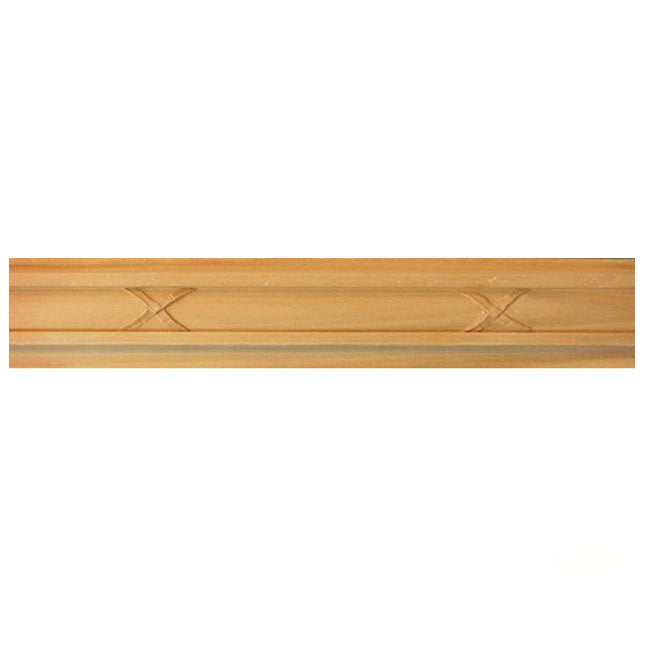 "Buy 2""(H) x 3/4""(Proj.) - Crossband Onlay Panel Molding Design (Poplar) - [Wood Material] - Brockwell Incorporated"