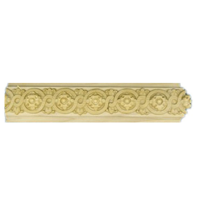 "Buy 2-1/4""(H) x 3/4""(Proj.) - Floral Onlay Panel Molding Design (Poplar) - [Wood Material] - Brockwell Incorporated"