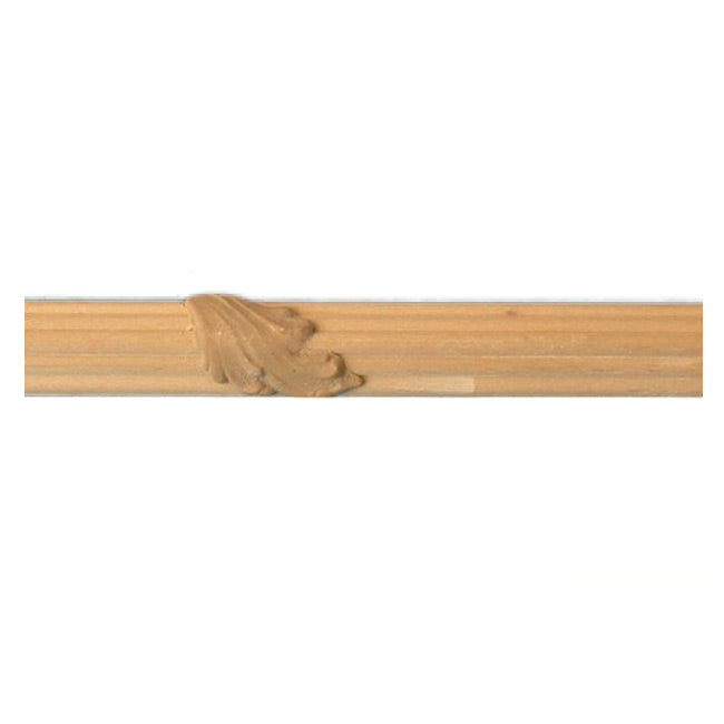 "Buy 3/4""(H) x 3/8""(Proj.) - Small Acanthus Leaf Onlay Panel Molding Design (Poplar) - [Wood Material] - Brockwell Incorporated"