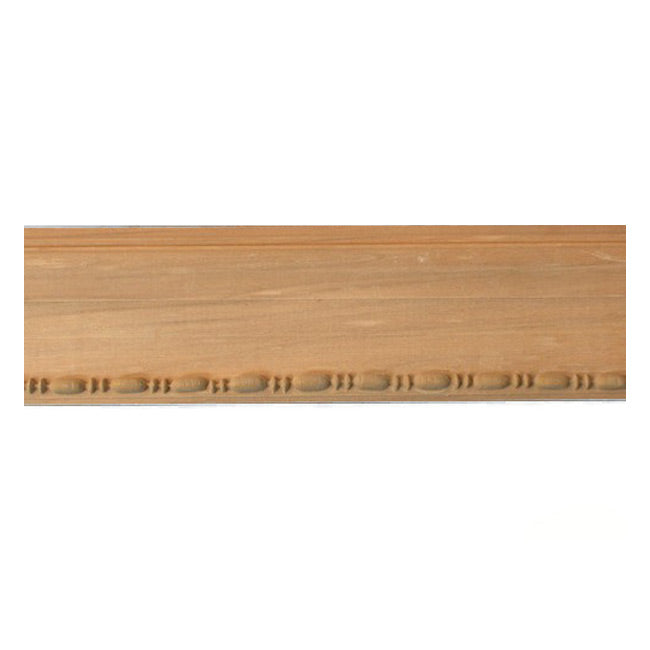 "Buy 2-3/4""(H) x 1/2""(Proj.) - Bead & Reel Onlay Panel Molding Design (Poplar) - [Wood Material] - Brockwell Incorporated"