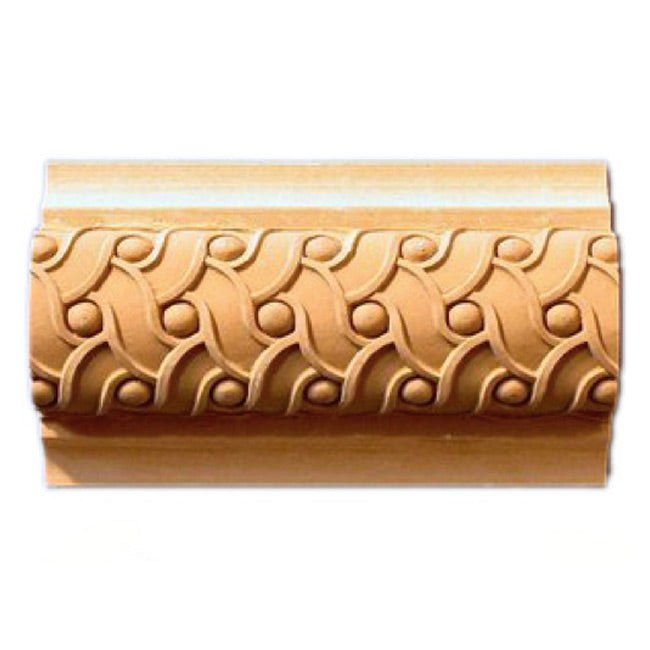 "Buy 3-1/2""(H) x 1-5/8""(Proj.) - Weave Onlay Panel Molding Design (Poplar) - [Wood Material] - Brockwell Incorporated"