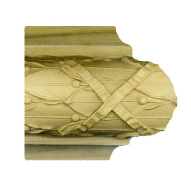 "Buy 3-1/2""(H) x 1-5/8""(Proj.) - Leaf & Berry Onlay Bull Nose Molding Design (Poplar) - [Wood Material] - Brockwell Incorporated"