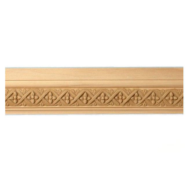 "Buy 2""(H) x 13/16""(Proj.) - Floral Onlay Panel Molding Design (Poplar) - [Wood Material] - Brockwell Incorporated"