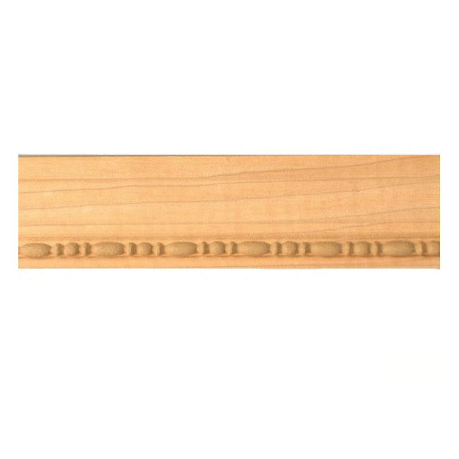 "Buy 2""(H) x 13/16""(Proj.) - Bead & Reel Onlay Panel Molding Design (Poplar) - [Wood Material] - Brockwell Incorporated"