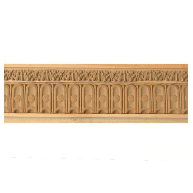 "Buy 2-1/2""(H) x 1-1/8""(Proj.) - Fluted Onlay Panel Molding Design (Poplar) - [Wood Material] - Brockwell Incorporated"