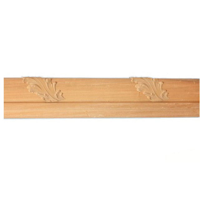 "Buy 2-1/4""(H) x 7/8""(Proj.) - Acanthus Leaf Onlay Panel Molding Design (Poplar) - [Wood Material] - Brockwell Incorporated"