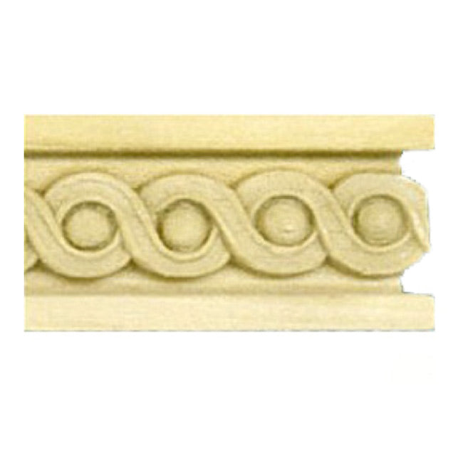 "Buy 1""(H) x 5/16""(Proj.) - Running Coin Stain-Grade Onlay Panel Molding Design (Poplar) - [Wood Material] - Brockwell Incorporated"