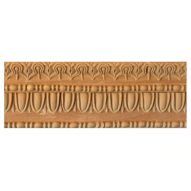 "Buy 2-1/2""(H) x 1""(Proj.) - Egg & Dart, Lamb's Tongue Onlay Panel Molding Design (Poplar) - [Wood Material] - Brockwell Incorporated"