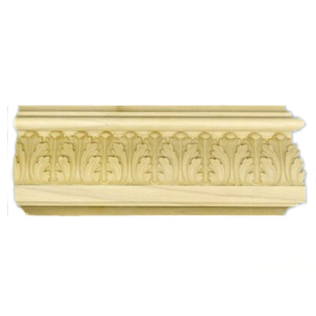 "Buy 3-7/8""(H) x 15/16""(Proj.) - Acanthus Leaf Onlay Panel Molding Design (Poplar) - [Wood Material] - Brockwell Incorporated"