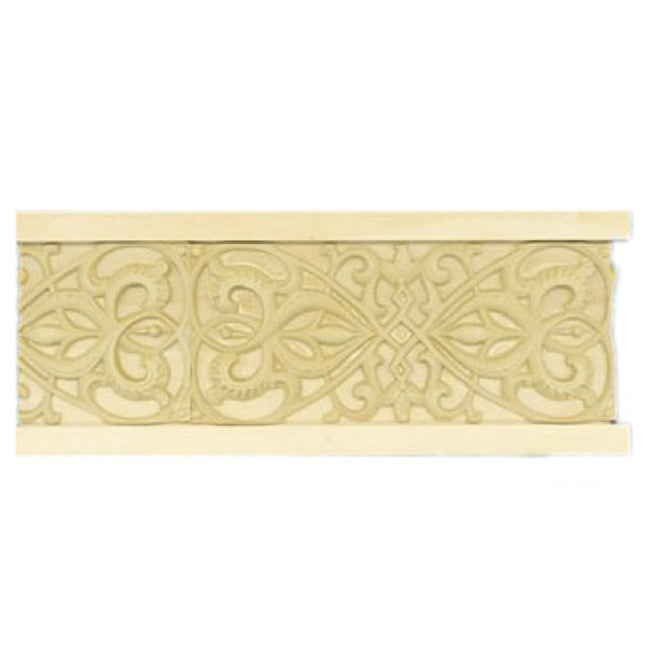 "Buy 4""(H) x 7/8""(Proj.) - Scroll Onlay Panel Molding Design (Poplar) - [Wood Material] - Brockwell Incorporated"