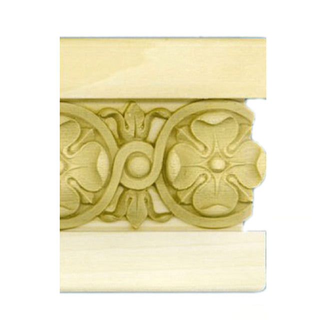 "Buy 4-1/4""(H) x 7/8""(Proj.) - Floral Panel Molding Design (Poplar) - [Wood Material] - Brockwell Incorporated"