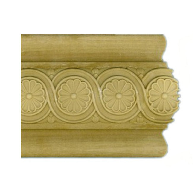 "Buy 4-7/16""(H) x 1-1/8""(Proj.) - Floral Panel Molding Design (Poplar) - [Wood Material] - Brockwell Incorporated"