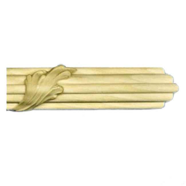 "Buy 7/8""(H) x 1/2""(Proj.) - Small Acanthus Leaf Onlay Panel Molding Design (Poplar) - [Wood Material] - Brockwell Incorporated"