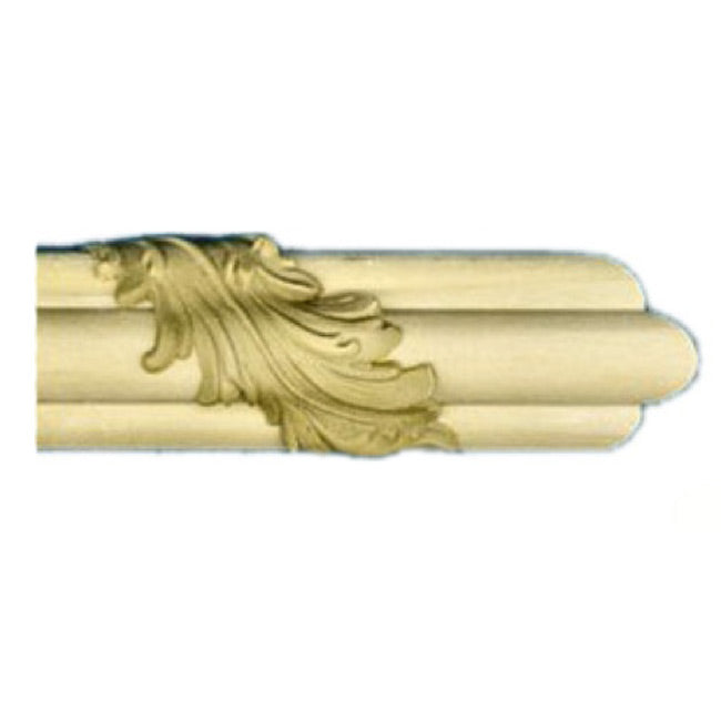 "Buy 1-1/4""(H) x 7/8""(Proj.) - Acanthus Leaf Stain-Grade Onlay Panel Molding Design (Poplar) - [Wood Material] - Brockwell Incorporated"