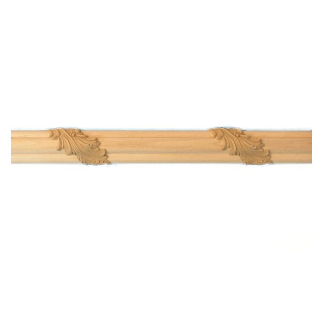 "Buy 1-1/4""(H) x 5/8""(Proj.) - Acanthus Leaf Onlay Panel Molding Design (Poplar) - [Wood Material] - Brockwell Incorporated"