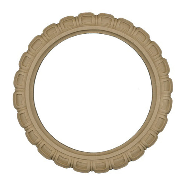 "Resin Furniture Appliques - 8-1/2""(Diameter) - Wreath Applique - [Compo Material]"
