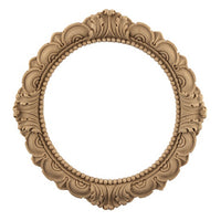 "Resin Furniture Appliques - 9-1/4""(Out Diam) x 6-1/4""(In Diam) - Acanthus Ring Applique - [Compo Material]"
